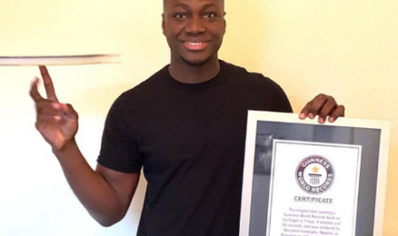 Benjamin Inemugha, Ex Bridge House College Student Sets Guinness World Records