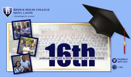 Bridge House College Hosts Her First Virtual Lecture and Prize Giving Day.